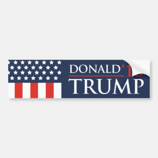 Donald Trump Flag Bumper Sticker 2016 President