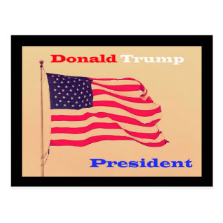 Donald Trump for American president Postcard