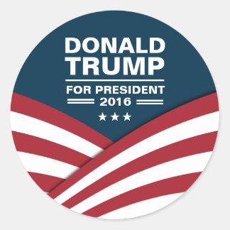 Donald Trump for President 2016 Modern Design Classic Round Sticker