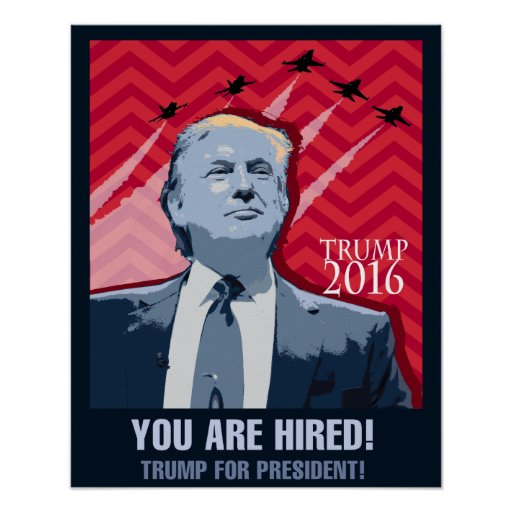 Donald Trump for president 2016 poster