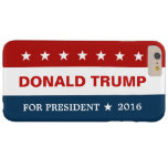 Donald Trump for President 2016 Red Blue Flag Star Barely There iPhone 6 Plus Case