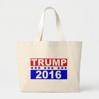 Donald Trump For President 2016 red white and blue Jumbo Tote Bag