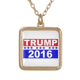 Donald Trump For President 2016 red white and blue Square Pendant Necklace
