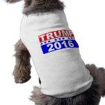 Donald Trump For President 2016 Sleeveless Dog Shirt
