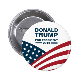 Donald Trump for President 2016 Stars and Stripes 6 Cm Round Badge