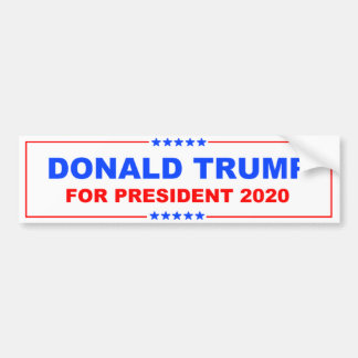 Donald Trump for President 2020 Bumper Sticker