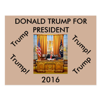 Donald Trump for President postcard