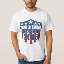Donald Trump for President Shield T Shirts
