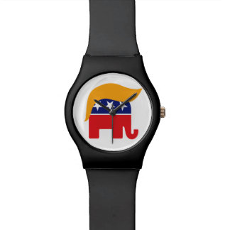 Donald Trump GOP Elephant Hair - It's Time Watches
