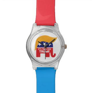 Donald Trump GOP Elephant Hair - It's Time Wrist Watch