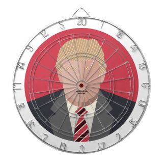 Donald Trump Graphic Representation Dartboard