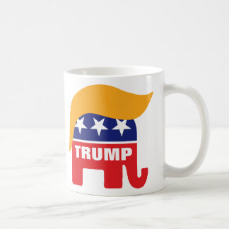 Donald Trump Hair GOP Elephant Logo Coffee Mug