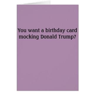 Donald Trump Insult Birthday Card