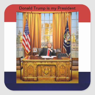 Donald Trump is my President Square Sticker