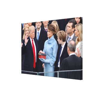 Donald Trump Is Sworn In As President Canvas Print
