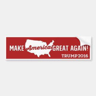 Donald Trump Make America Great Again 2016 Bumper Sticker