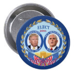Donald Trump & Mike Pence 7.5 Cm Round Badge