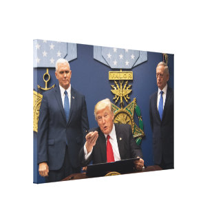 Donald Trump, Mike Pence, & James Mad Dog Mattis Canvas Print