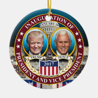 DONALD TRUMP MIKE PENCE PRESIDENTIAL INAUGURATION CHRISTMAS ORNAMENT