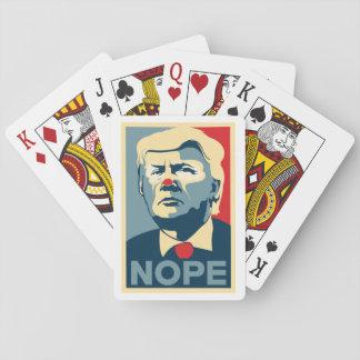 """Donald Trump """"NOPE"""" deck o' cards"""