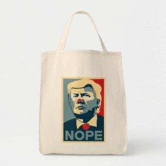 """Donald Trump """"NOPE"""" grocery tote! Tote Bag"""