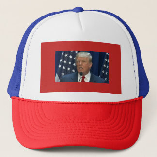 Donald Trump on a Truckers Cap