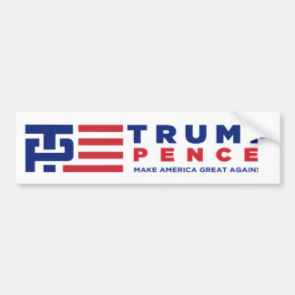Donald Trump Pence 2016 Election Campaign Bumper Sticker