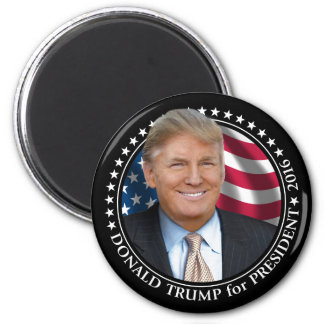 Donald Trump Photo - President 2016 6 Cm Round Magnet