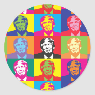 Donald Trump Pop Art Round Sticker