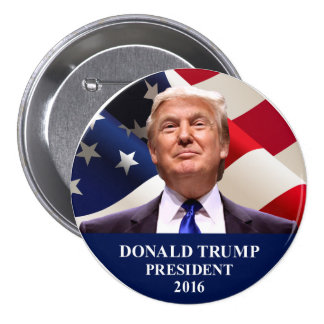 "Donald Trump President 2016 Button Pin 3"""