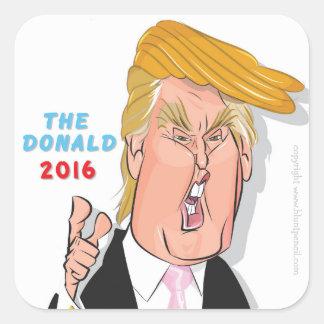 Donald Trump President 2016 Caricature Sticker