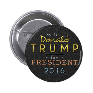 Donald Trump President 2016 Gold Black Classy 6 Cm Round Badge