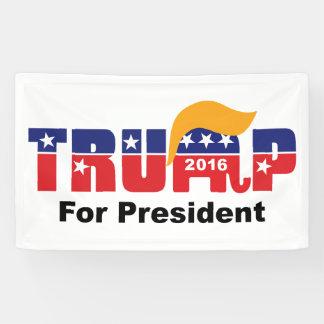 Donald Trump President 2016 GOP Elephant Hair Logo Banner