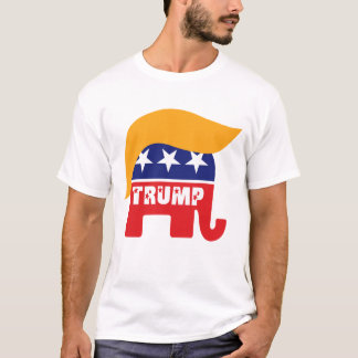 Donald Trump President 2016 GOP Elephant Hair Logo T-Shirt