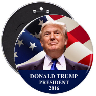 Donald Trump President 2016 Jumbo Button Pin