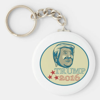 Donald Trump President 2016 Oval Basic Round Button Key Ring