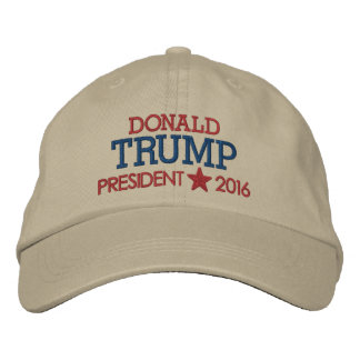 Donald Trump - President 2016 with Star Embroidered Hat