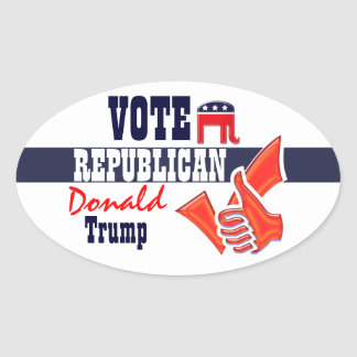 Donald Trump presidential elections vote Oval Sticker