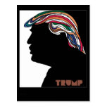 Donald Trump Psychedelic Combover Card Postcard