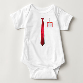 Donald Trump Red Power Tie & Name Tag Baby Bodysuit