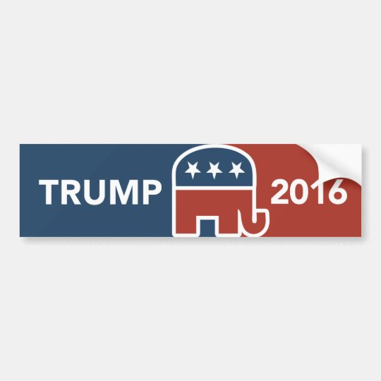 Donald Trump Republican Elephant Bumper Sticker