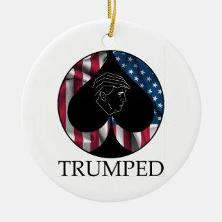 Donald Trump Spade Trumped Round Ceramic Decoration