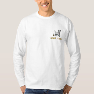 Donald Trump Stinks! Embroidered Long Sleeve T-Shirt