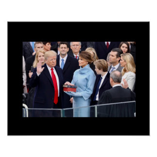 Donald Trump takes the oath of office Poster
