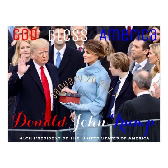 Donald Trump taking his Oath of Office January