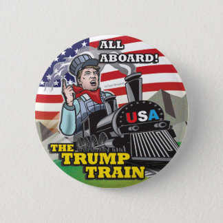 Donald TRUMP TRAIN Political American Movement USA 6 Cm Round Badge