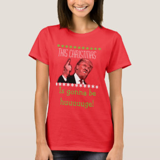 Donald Trump Ugly Christmas T-Shirt for Women