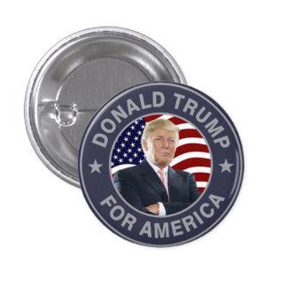 Donald Trump US Flag 3 Cm Round Badge