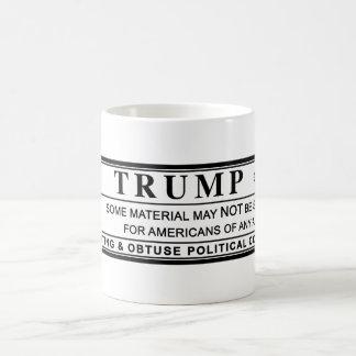 Donald Trump Warning Label Coffee Mug