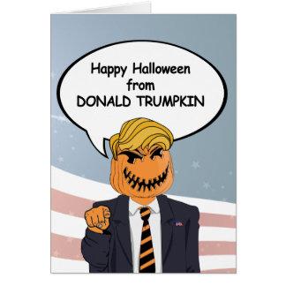 Donald Trumpkin Halloween Card -